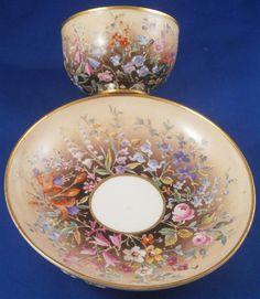 RARE 18thC Meissen Porcelain Fleur En Terrasse Cup Saucer Porzellan Tasse | eBay
