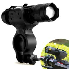For Q5 LED Bike Bicycle Waterproof Head Light Zoomable 360° Mount Clip Holder