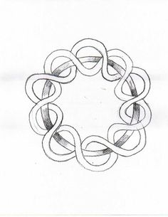 Waldorf ~ 4th grade ~ Form Drawing ~ Braided Circle