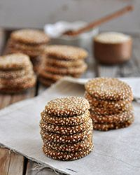 These delicious gluten-free cookies are both chewy and crisp, combining tahini and honey for a cool spin on a classic peanut butter cookie.