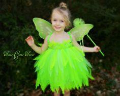 Tinker Bell Fairy Tutu Dress Nb5yrs by TutieCutieTutus on Etsy, $53.00