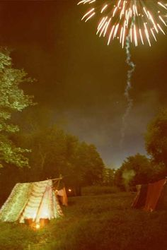 camping and fireworks <3