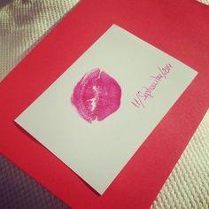 A dónde van los besos que no damos – Manualidad romántica - #beso con #dedicatoria