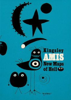 Milton Glaser • Book jacket for a Kingsley Amis book. From Graphis Annual 61/62.