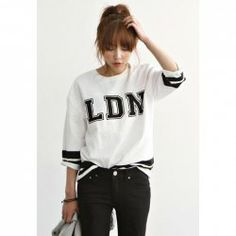 $6.38 Round Neck Plus Size Letter Print Half Sleeve T-Shirt For Women