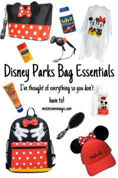 Heading to Disney? I've got your Disney park bag essentials list. Make sure you have everything you will need while you're in the parks!