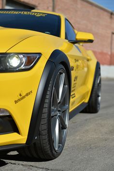 """2015 + Defenderworx Ford Mustang Street Flares Front 1/2"""" wide, Rear 1"""" wide- Urethane Paintable finish"""