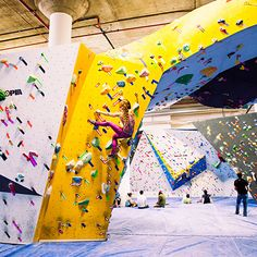 For the uninitiated, bouldering means more or less what you'd expect it to mean…
