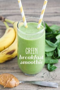 This easy and delicious dairy free green breakfast smoothie is the perfect energizing start to your day!