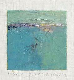 "Mar. 15, 2017 9 cm x 9 cm (app. 4"" x 4"") oil on canvas  © 2017 Hiroshi Matsumoto"