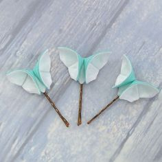 Origami Butterfly Hair Pins