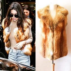 Give Kendall Jenner a run for her money with our fantastic vintage fox fur gilet
