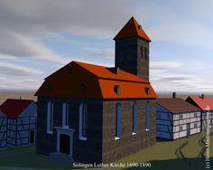 3d Rekonstruktion der ehemaligem Solinger Luther Kirche.