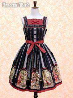 Fairy tale pattern Square jumper skirt
