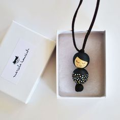 Wooden Doll Necklace