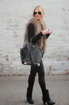 Devon Rachel: Faux Fur & Gold Accents