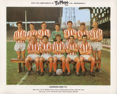 Sunderland team group in Sunderland Football, Sunderland Afc, Retro Football, Football Art, Typhoo, Bristol Rovers, Laws Of The Game, English Football League, Association Football