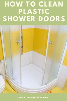 Don't worry! Here you'll see the proper guidelines to clean and keep your plastic shower doors neat. So, how to clean plastic shower doors? #shower #bathtub Shower Door Cleaner, Bathroom Cleaning Hacks, Cleaning Tips, Shower Soap, Best Cleaning Products, Tile Grout, Soap Scum, Organization, Organizing Ideas
