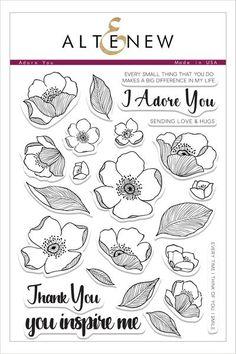 Adore You Stamp Set - Altenew   - 1
