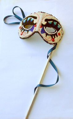 Fully Embroidered Beaded Mask / Venetian by LuxMysticaBeadworks, $245.00