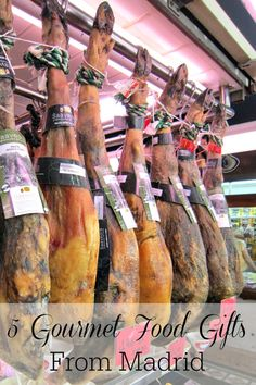 Looking to take a bit of Spain home with you? Here are our top tips for amazing gourmet food gifts from Madrid! Which one will you stuff your suitcase with? Spanish Cuisine, Spanish Food, Spanish Recipes, Gourmet Food Gifts, Gourmet Recipes, Madrid Travel, Spanish Culture, Spain Travel, Foodie Travel
