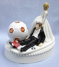Wedding Cake Topper - Soccer Manchester United Themed OBV. not Manchester