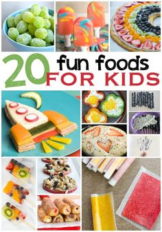 20 fun food ideas for kids breakfast, lunch, snacks & dessert