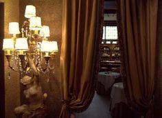 Entering Die Swaene's hotel bar in Bruges, Belgium
