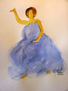 """""""Blaue Bewegung 4""""  Painting by Emo Schuschnig"""