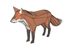 Animal Paper Model - Low Poly Fox Ver.5 Free Template Download - http://www.papercraftsquare.com/animal-paper-model-low-poly-fox-ver-5-free-template-download.html#AnimalPaperModel, #Fox, #LowPoly