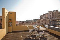 Appartamento con terrazza a Lisbona