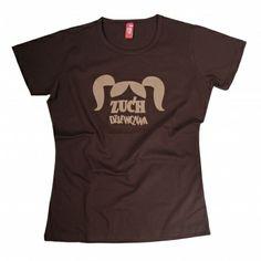 Damski t-shirt dla prawdziwej przodowniczki. Projekt z sentymentem przypomina o kucykach, które zuch dziewczyny lubiły wiązać w dzieciństwie