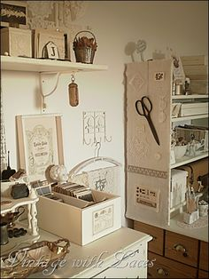 I love the basic white for the storage items.