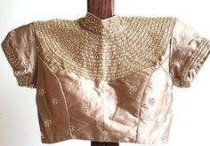 Gold High Neck Blouse – Desically Ethnic