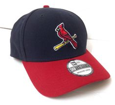 new style 133bf 349f7 New Era ST LOUIS CARDINALS HAT Navy Blue   Red Bird Curved 39Thirty Flex  Fit M L  NewEra  StLouisCardinals