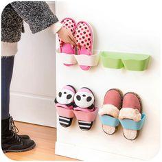 Shoe Rack Plastic Shelf Prateleira Holder Hanger Bathroom Wall Storage Estanteria Organizador Organizer Shelving Special Offer