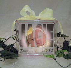 Custom Glass Blocks of Your Baby by CraftyGlassBlocks on Etsy, $15.00