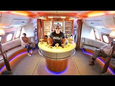 INCREDIBLE First Class BAR AND SHOWER!!! - YouTube