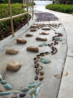 66 ft long Reflexology Pathway in the heart of the Medicinal and Healing Garden at Nova Southeastern University