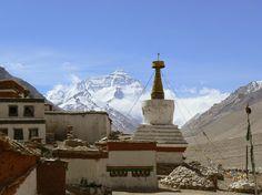 Rongphu Monastery, the Buddhist monastery of Everest, the world's highest peak