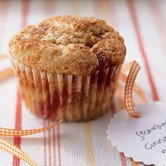 Low-Fat Strawberry-Cinnamon Muffins    Fat-free yogurt and low-fat milk keep the calories at bay in this recipe, but they have a great sweetness and flavor thanks to the strawberries and spices.