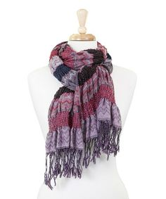 Another great find on #zulily! Berry Zigzag Winter Bunchy Scarf by Tickled Pink #zulilyfinds
