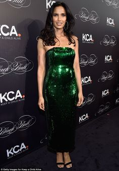 Belle of the ball: On Wednesday night, Padma Lakshmi headed to Keep A Child Alive's 13th annual Black Ball in New York City