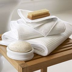 Waffle hand towels - esp. love the ones from WS HOME