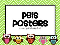 Owl PBIS posters.