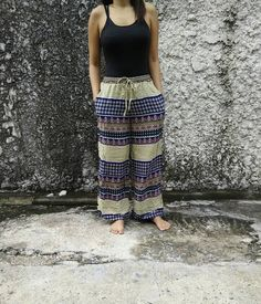 Palazzo Pants Boho print Style Floral Aztec by TribalSpiritShop