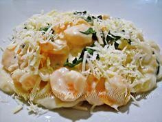 Espaguete Com Camarão ao Molho de Limão Siciliano