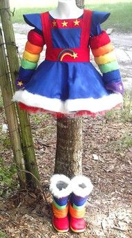 rainbow bright, i was her one year.  love it, wanted to put kaeli in it, but the new version is so cheap and dumb.  yay for old costumes.