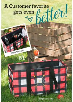 A customer favorite gets even better! Stand Tall Insert or Large Utility Tote