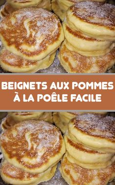 Dessert Recipes - New ideas Beignets, Thermomix Desserts, Easy Desserts, Dessert Recipes, Desserts With Biscuits, Fried Apples, Apple Fritters, Love Food, Sweet Recipes
